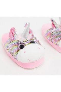 Loungeable - Pantofole a forma di unicorno con paillettes rosa(120299037)