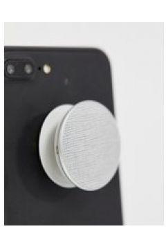 Popsockets - Supporto per telefono argento effetto pelle saffiano - Multicolore(92938103)