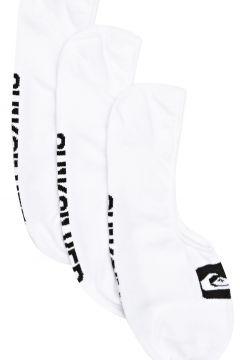 Fashion Socks Quiksilver 3 Pack Liner - White(115690216)