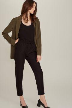 Ng Style Beli Bağlamalı Siyah Pantolon(113997459)
