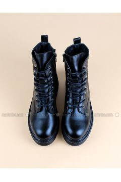 Black - Boot - Boots - Angelshe(110340355)