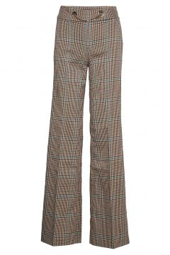 Selma Plaid Pant Hosen Mit Weitem Bein Braun MARCIANO BY GUESS(114152912)