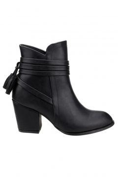 Ayakland 1111-832 Günlük 6 Cm Topuk Bayan Cilt Bot Ayakkabı(124150084)