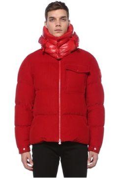 Moncler Erkek Kırmızı Kapüşonlu Kadife Puff Mont 3 US(123733862)