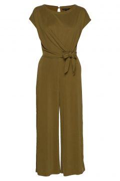 Sandwash Tie-Front Cropped Jumpsuit Jumpsuit Grün BANANA REPUBLIC(114153790)