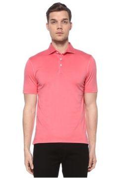 Fedeli Erkek Pembe Polo Yaka T-shirt Kırmızı 48 IT(116665620)