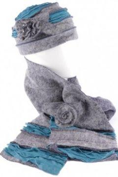 Bonnet Léon Montane Bonnet echarpe gris bleu en laine bouillie Mona(115397425)
