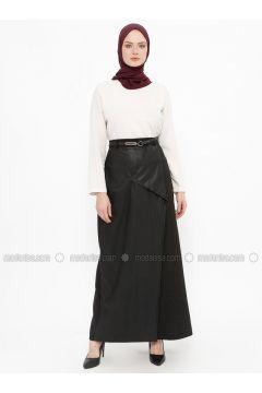 Black - Fully Lined - Skirt - Tekbir(110335693)