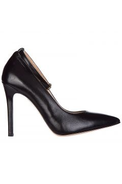 Women's leather pumps court shoes high heel(118071306)