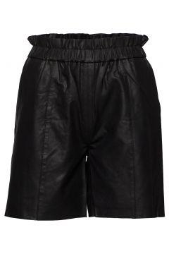 Cualina Leather Shorts Shorts Flowy Shorts/Casual Shorts Schwarz CULTURE(114355746)