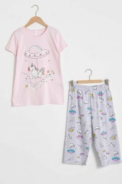 Çocuk Kız Çocuk Baskılı Pijama Takımı(127115432)