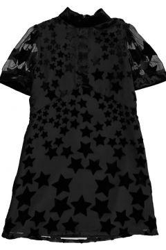 Zweifarbiges Kleid Sterne Samt(112328304)