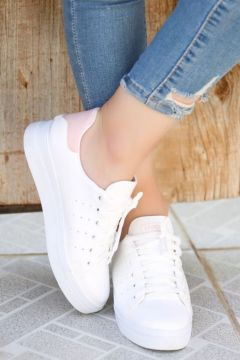 Haydigiy Kadın Beyaz Kalın Taban Spor Ayakkabı(123307576)