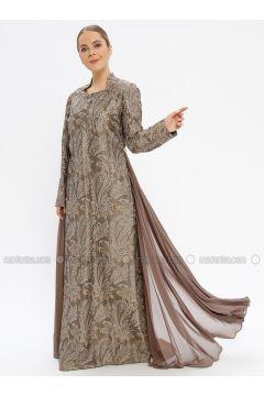 Green - Multi - Fully Lined - Sweatheart Neckline - Muslim Evening Dress - Le Mirage(110337561)