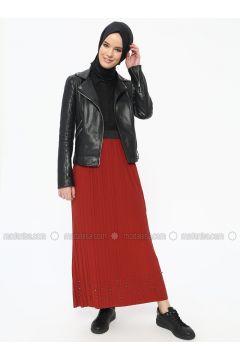 Terra Cotta - Unlined - Skirt - Dadali(110315331)