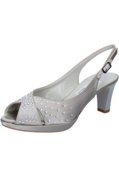 Sandales Musella sandales argent satin strass BZ477(115399355)