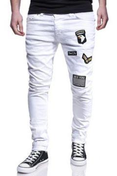 Pantalon Kc 1981 Jean coupe ajustée tendance Jeans 3191 blanc(88444828)