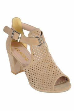 Ermod 1205 Ten Süet Topuklu Kadın Ayakkabı(117826902)