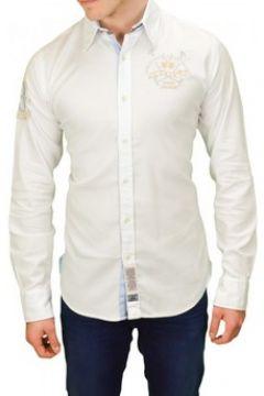 Chemise La Martina Chemise Pastor blanche pour homme(115387312)