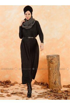 Smoke-coloured - Crew neck - Unlined - Cotton - Dresses - Muni Muni(110333269)