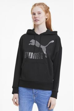 Puma 59763851 Classics Logo Hoody Regular Fit Kadın Sweatshırt(123149443)