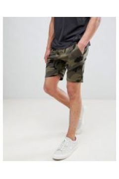Le Breve - Shorts mit Military-Muster - Grün(83085178)