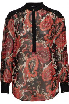 Paisley Fantasy Top Bluse Langärmlig Bunt/gemustert MARCIANO BY GUESS(114152906)