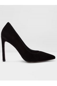Aldo Gerçek Süet Siyah Kadın Klasik Topuklu Ayakkabı(119981732)