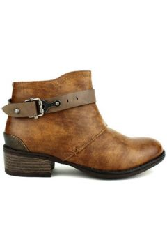 Boots Cendriyon Bottines Marron Chaussures Femme(115425943)