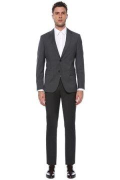 Network Erkek Slim Fit Drop 6 Antrasit Yün Takım Elbise Gri 46-6N EU(117771756)
