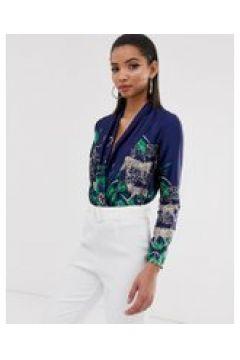 Liquorish - Bodysuit mit Wickeldesign vorne und Geparden-Print - Navy(93978568)