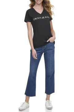 Dkny Jeans Hologram Logolu T-Shirt(124438254)