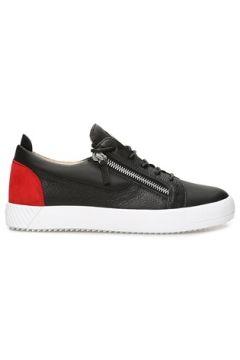 Giuseppe Zanotti Erkek Frankie Siyah Kırmızı Logolu Deri Sneaker 40 EU(116745313)