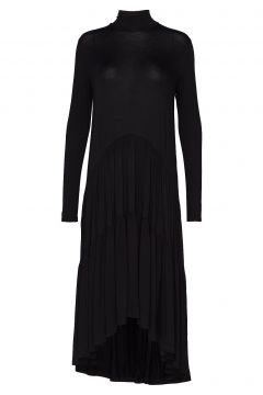 Long Ruffle Dress Maxikleid Partykleid Schwarz DIANA ORVING(114164124)