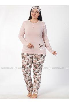 Pink - Crew neck - Multi - Pyjama - Elitol(110328415)
