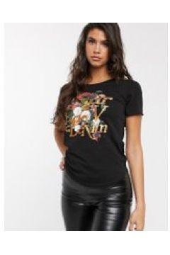 G-Star - T-shirt nera con logo-Nero(112345761)