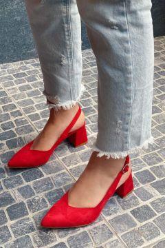 STRASWANS Kadın Kırmızı Hanna Topuklu Süet Ayakkabı(118463501)