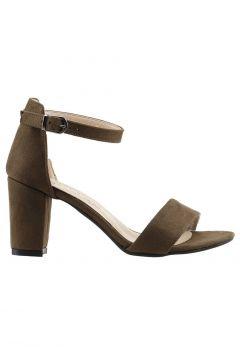 Ayakland Yeşil Kadın Topuklu Ayakkabı(118643358)