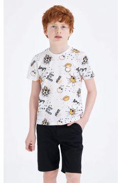 DeFacto Erkek Çocuk Baskılı Kısa Kollu T-shirt(119060326)