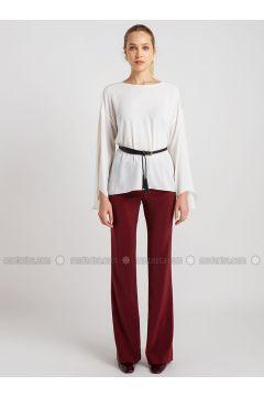 Maroon - Pants - NG Style(110341179)