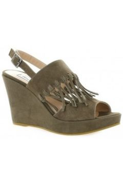 Sandales Benoite C Nu pieds cuir velours(98529567)