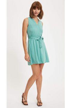 DeFacto Kadın Belden Bağlama Detaylı Örme Elbise(125925354)