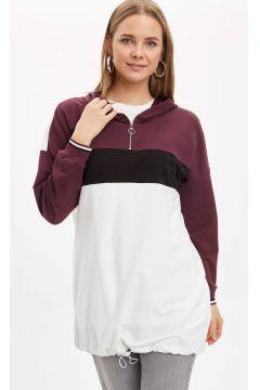 DeFacto Kadın Kapüşonlu Renk Bloklu Tunik(119058684)