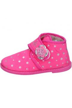 Chaussons enfant Lulu fille chaussons rose textile BS44(115443009)