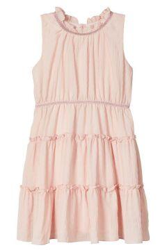 NAME IT Gestuftes Volant Kleid Damen Pink(111122862)