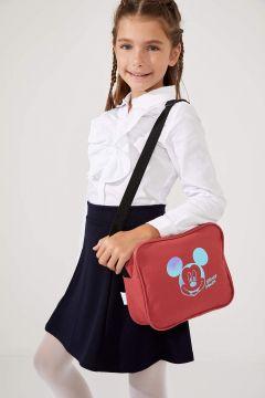 DeFacto Kız Çocuk Mickey Mouse Lisanslı Beslenme Çantası(125926667)