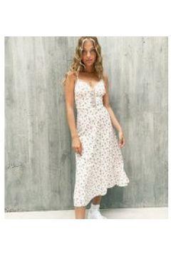 Fashion Union Petite - Vestito midi a fiorellini-Bianco(120330720)