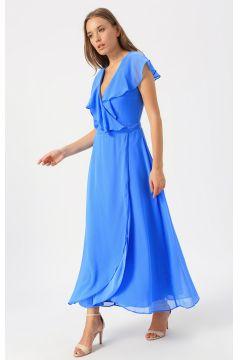 Vero Moda Mavi Düz Elbise(123481883)
