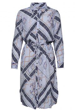 Frhascarf 1 Dress Kleid Knielang Blau FRANSA(109112766)