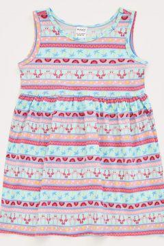 DeFacto Kız Bebek Baskılı Kolsuz Elbise(119060776)